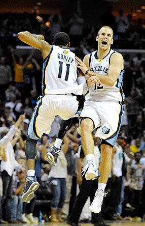 Nick Calathes and Mike Conley
