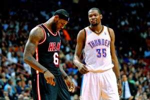 Kevin Durant and LeBron James