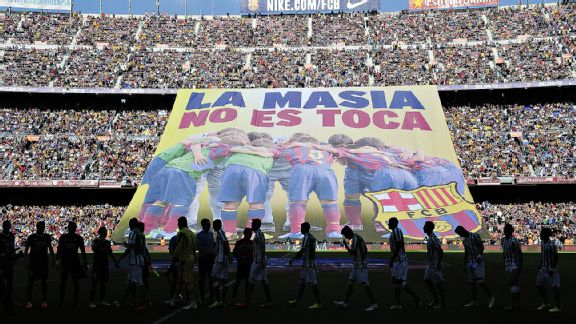 Fans show their support at the Camp Nou --