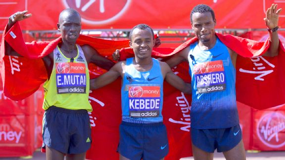 Geoffrey Mutai, Tsegaye Kebede, Ayele Abshero