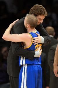 Pau Gasol and Steve Blake