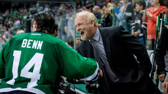 Jamie Benn and Lindy Ruff