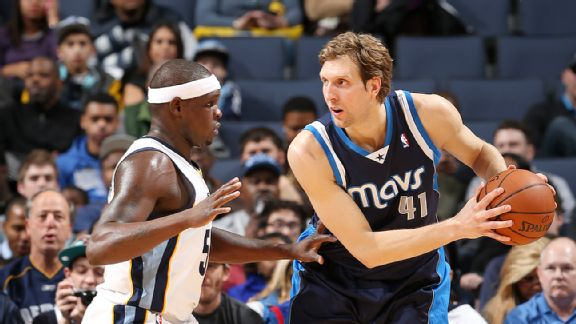 Dirk Nowitzki and Zach Randolph