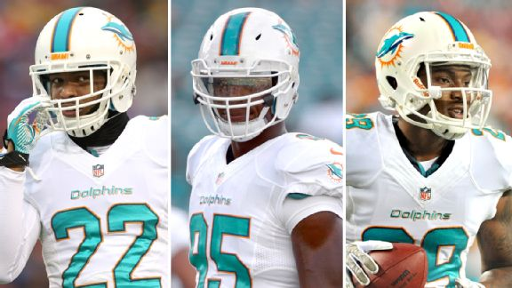 Jamar Taylor, Dion Jordan and Will Davis
