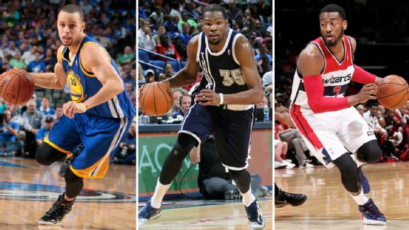 Stephen Curry, Kevin Durant, John Wall