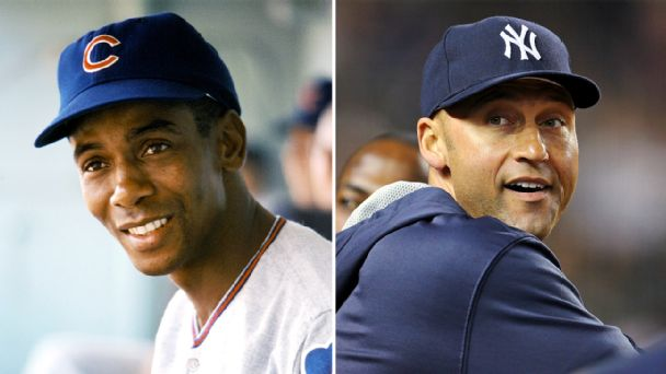Ernie Banks and Derek Jeter