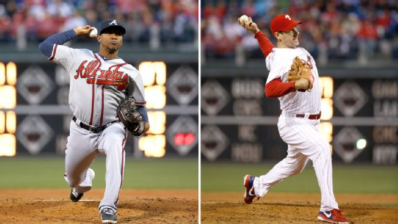 Julio Teheran and Cliff Lee