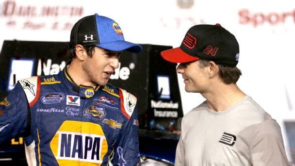 Jeff Gordon and Chase Elliott