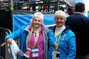 Carol Gough (L) and Arlene Moore