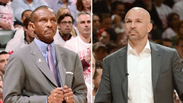 Dwane Casey and Jason Kidd