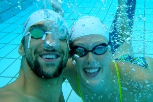 Allison Schmitt and Michael Phelps