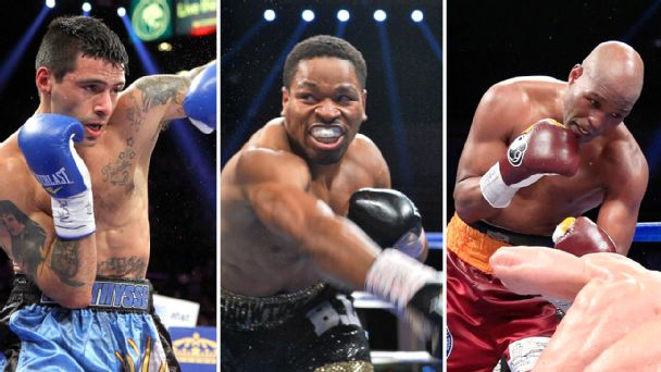 Lucas Matthysse, Shawn Porter and Bernard Hopkins