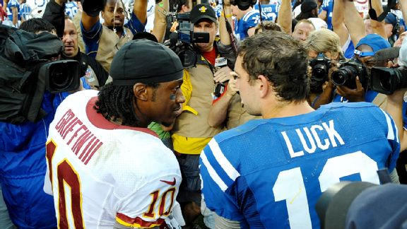 Robert Griffin III and Andrew Luck
