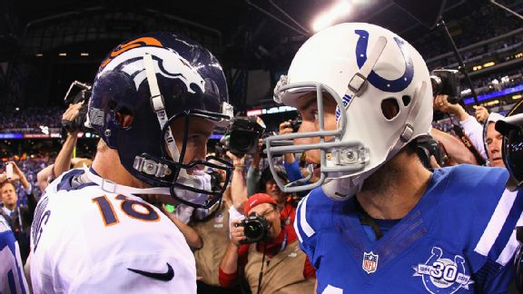 Peyton Manning and Andrew Luck