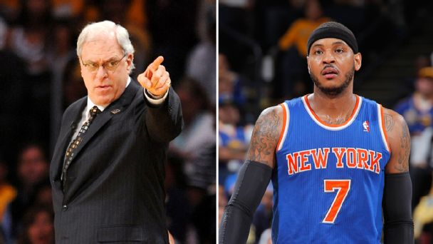 Phil Jackson and Carmelo Anthony