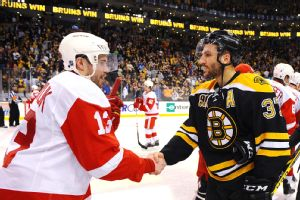 Patrice Bergeron and Pavel Datsyuk