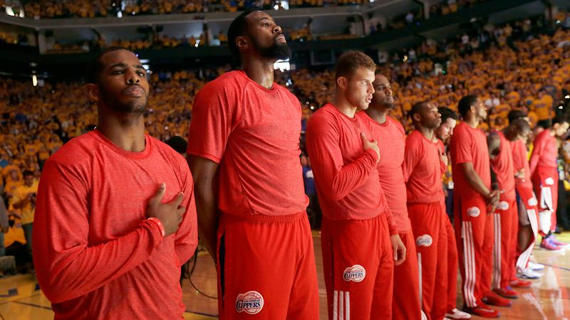 The Clippers and many of their fans were seeing red on Sunday after the alleged comments by owner Donald Sterling.