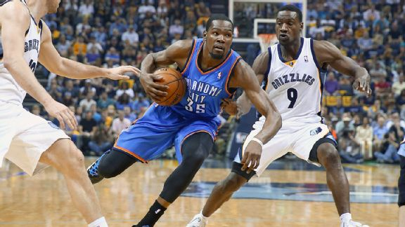 Kevin Durant and Tony Allen