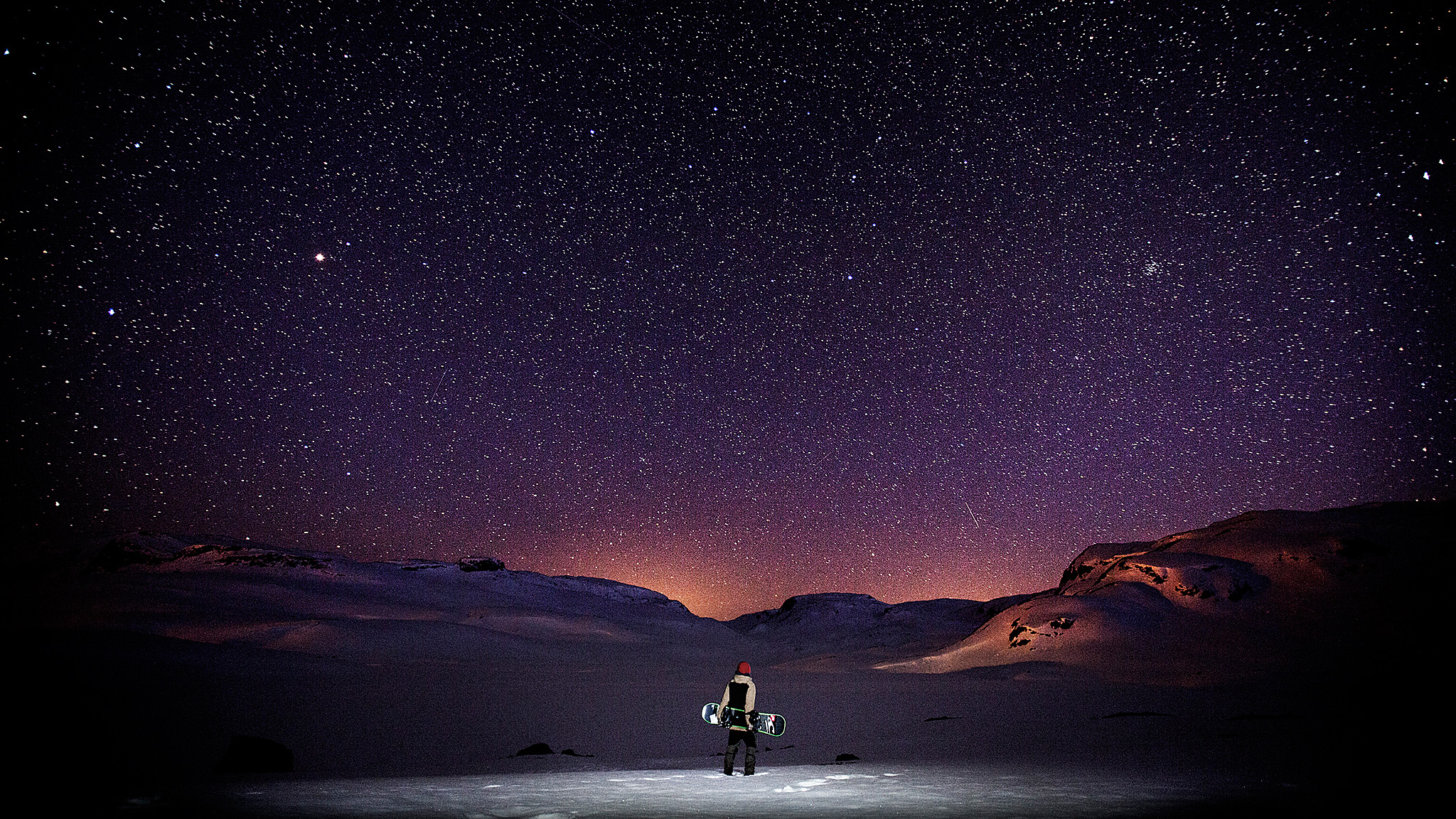Winter may be over, but that doesn't mean it has to be forgotten. We reached out to some of our favorite ski and snowboard photographers to collect this gallery of their favorite images from this past season. Like this photo of Fredrik Evensen, which was shot recently while out camping in the wild in Norway, says photographer Frode Sandbech, after a long and good day of shooting snowboarding.