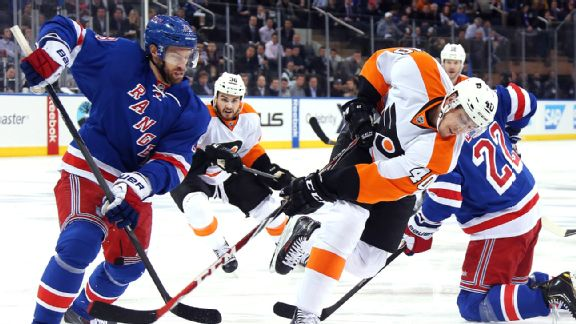 Rangers vs. Flyers