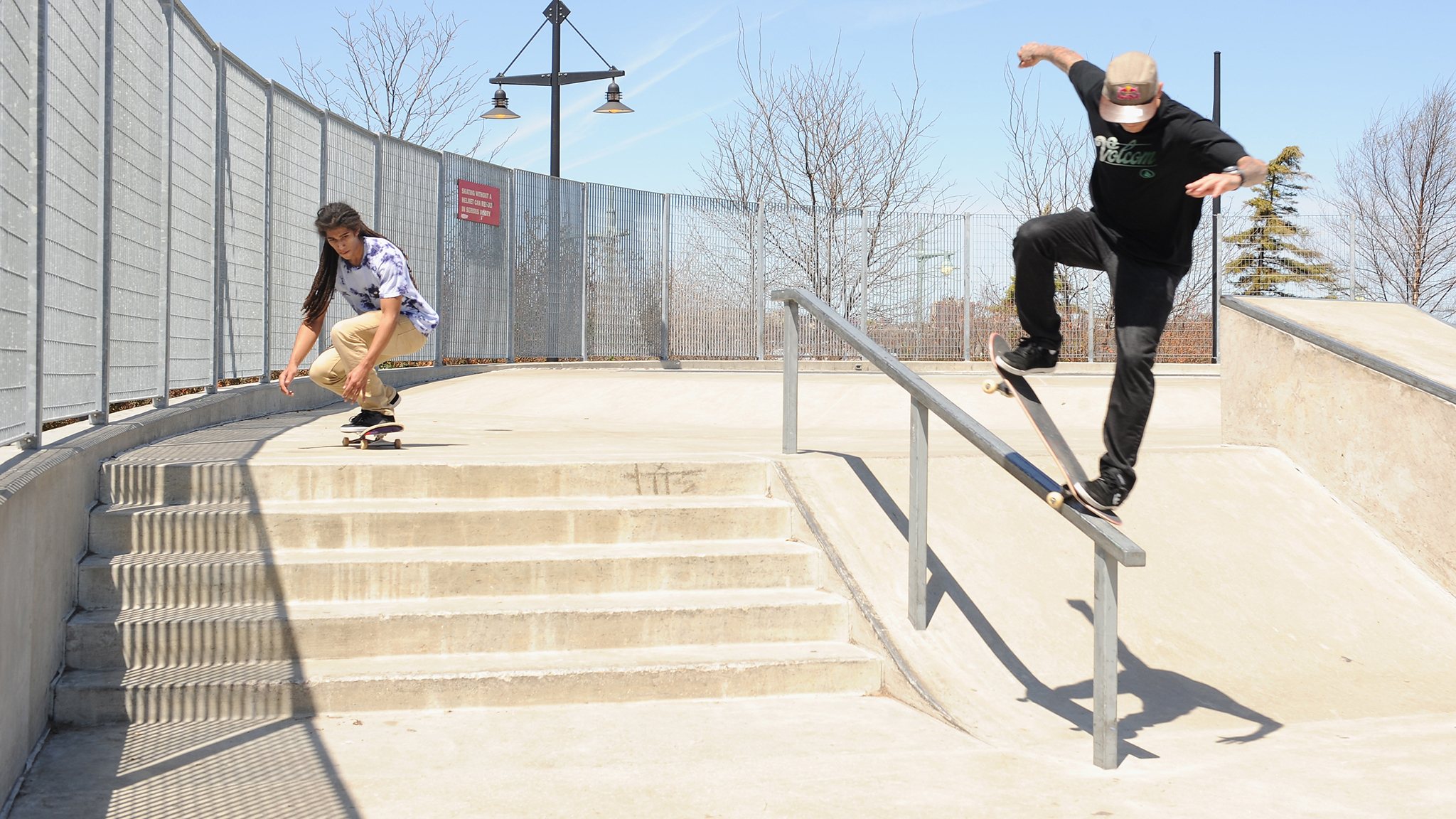 Sheckler gets in a line at the Chelsea Piers park in New York City.