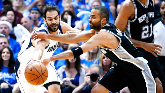 Jose Calderon and Tony Parker