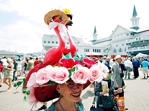 Derby Hat - Flamingos