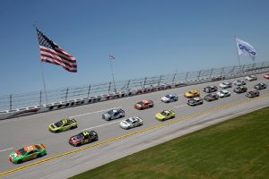 Danica Patrick led a NASCAR career-best six laps at Sunday's Aaron's 499 at Talladega.
