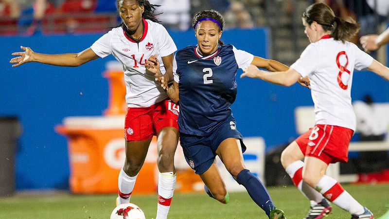 Born and raised in British Columbia, American star Sydney Leroux scored the winning goal for the U.S. in the last game against Canada.