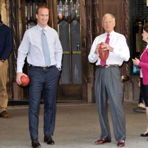 David Letterman and Peyton Manning