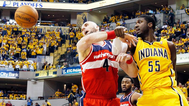 After another night of nothing, the Pacers' Roy Hibbert is having anything but a ball.