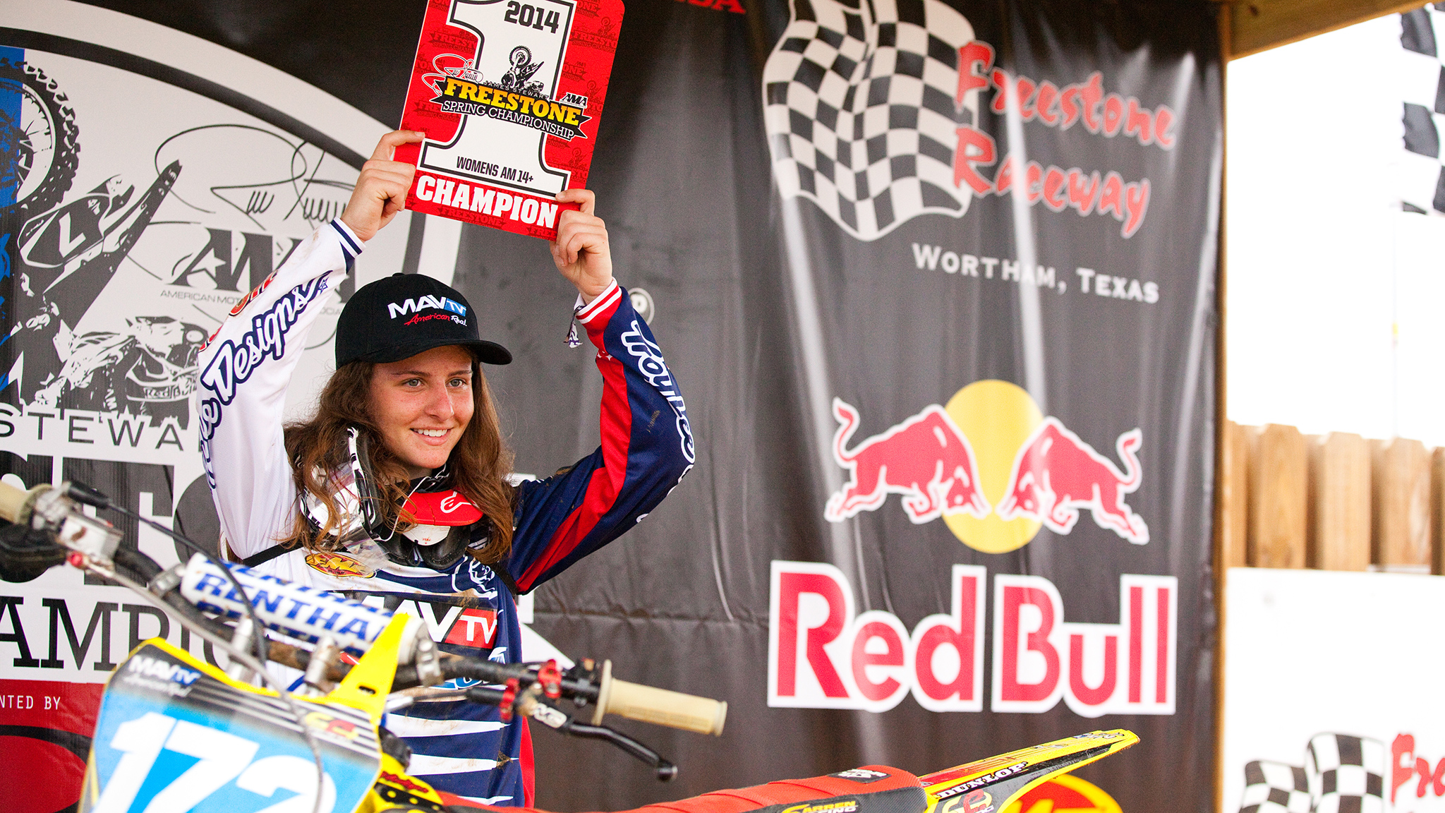 At the 2014 James Stewart Freestone Spring Championship held March 18-22 at Freestone in Wortham, Texas, Hannah Hodges took home three titles: Girls senior (12-16), schoolgirl (12-16), and womens amateur 14-plus. Many think Hodges can become the best female rider in the United States. But without a professional female motocross circuit, Hodges' future earnings potential on dirtbikes is limited.