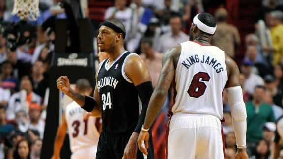 Paul Pierce and LeBron James