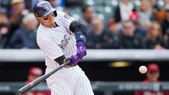 Troy Tulowitzki #2 of the Colorado Rockies