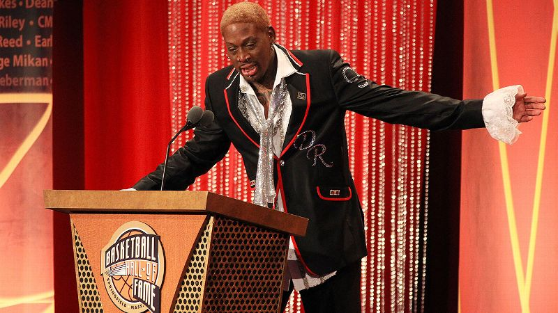 Unlike former teammate Michael Jordan, who seemed cold and arrogant during his Hall of Fame induction speech, Rodman was remarkably candid and humbled by the honor in 2011. Referencing his flaws as a father and his troubled home life while growing up, Rodman fought through tears and shocked the crowd with his a href=https://www.youtube.com/watch?v=uwbI15Ucl8spoignant tribute to basketball./a