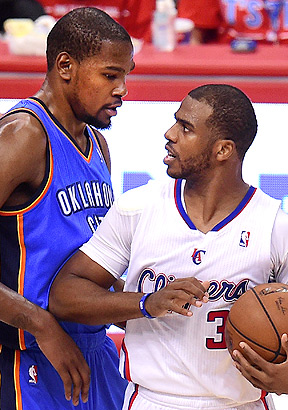 Kevin Durant and Chris Paul