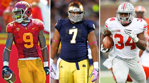 Marqise Lee, Stephon Tuitt, and Carlos Hyde