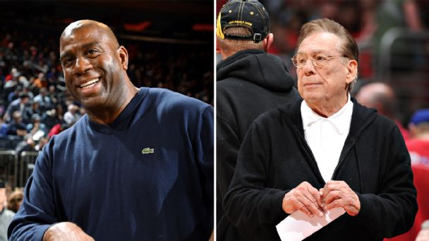 Magic Johnson and Donald Sterling