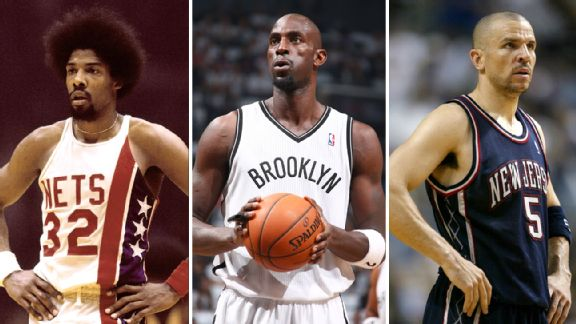 Julius Erving Kevin Garnett and Jason Kidd