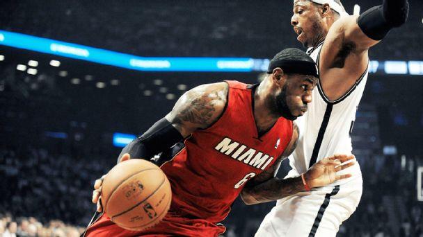 LeBron James and Paul Pierce