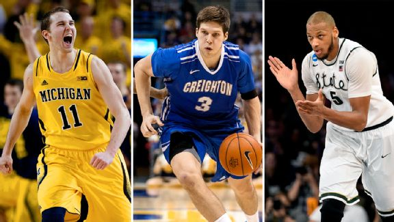 Nik Stauskas, Doug McDermott, and Adreian Payne