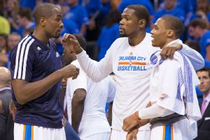 Serge Ibaka, Kevin Durant, Russell Westbrook