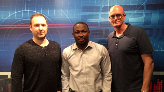 LeSean McCoy, Scott Van Pelt and Ryen Russillo