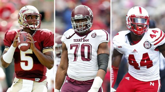 Jameis Winston, Cedric Ogbuehi and Randy Gregory are among Mel's top 2015 prospects.