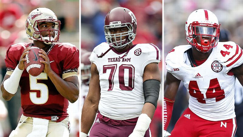 Jameis Winston, Cedric Ogbuehi, and Randy Gregory