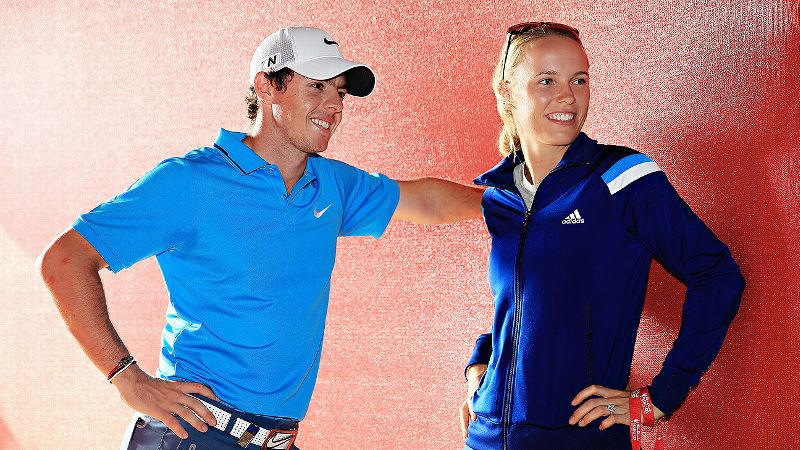Only time will tell if the world will be able to recognize Rory McIlroy and Caroline Wozniacki as two distinct human beings.