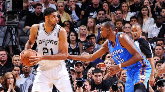 Tim Duncan and Kevin Durant