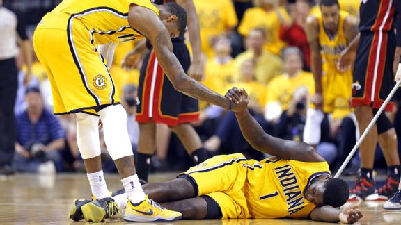 Paul George and Lance Stephenson