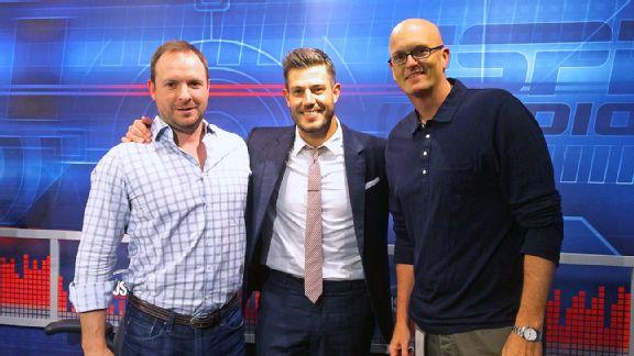 Jesse Palmer, Scott Van Pelt and Ryen Russillo