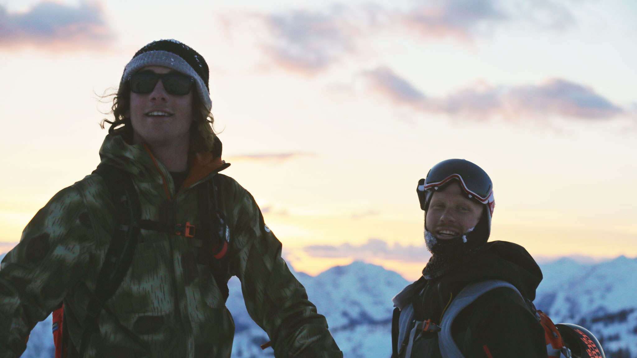 Sammy Carlson and Dane Tudor filming in Revelstoke, BC, earlier this winter.